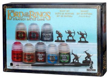 Games Workshop Warhammer Paint Set Lord of the Rings With 12 Moria Goblins 60-09